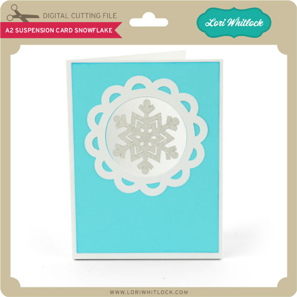 A2 Suspension Card Snowflake
