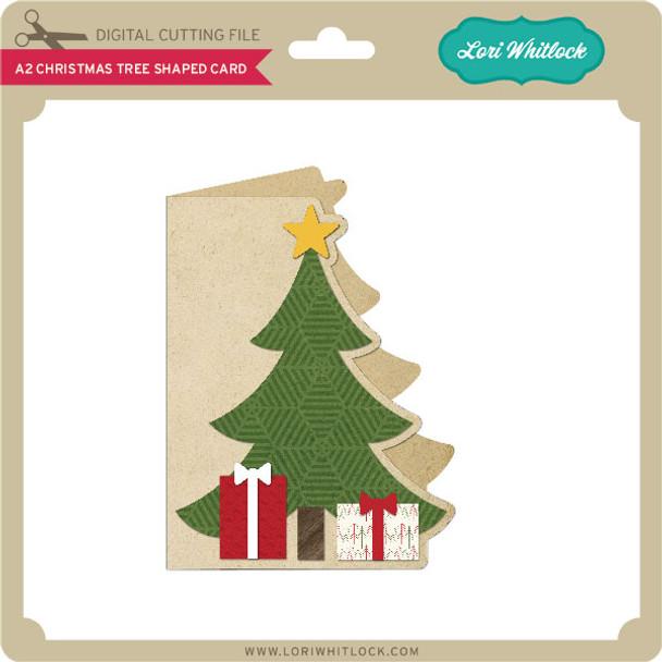 A2 Christmas Tree Shaped Card
