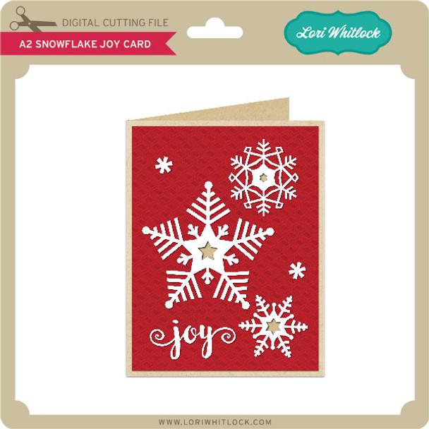 A2 Snowflake Joy Card
