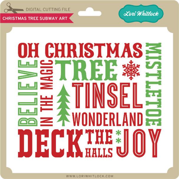 Christmas Tree Subway Art