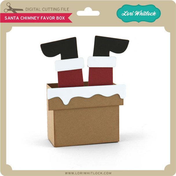 Santa Chimney Favor Box