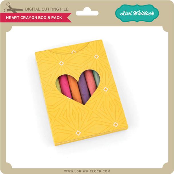 Heart Crayon Box 8 Pack