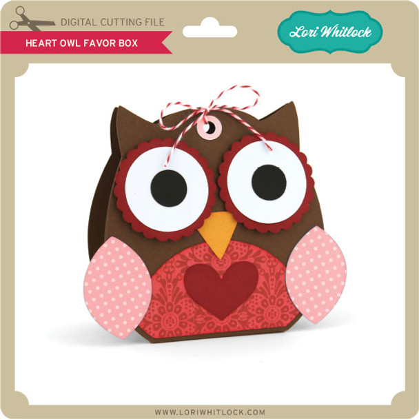Heart Owl Favor Box