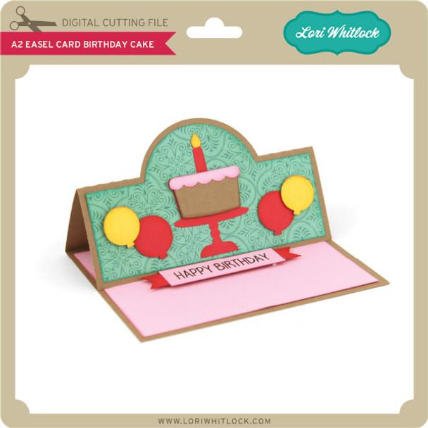 A2 Easel Card Birthday Cake