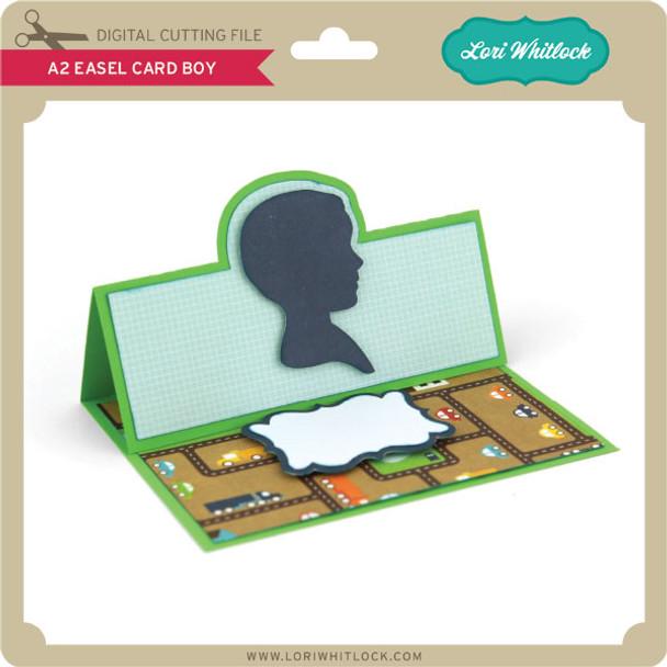 A2 Easel Card Boy