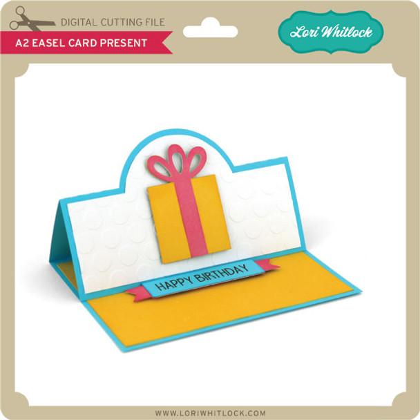 A2 Easel Card Present