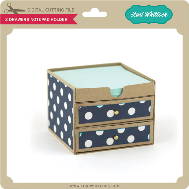 2 Drawers Notepad Holder