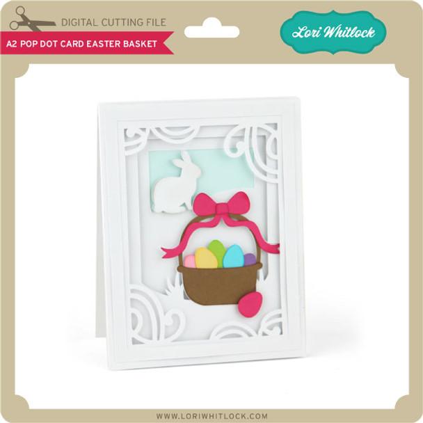 A2 Pop Dot Card Easter Basket