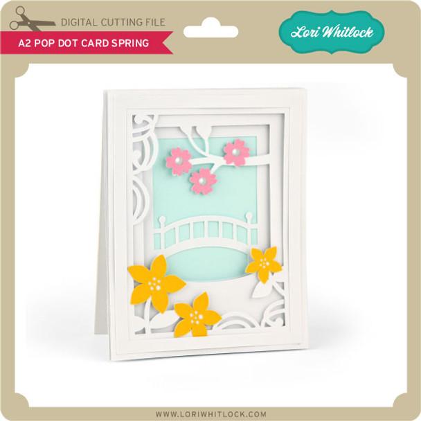 A2 Pop Dot Card Spring