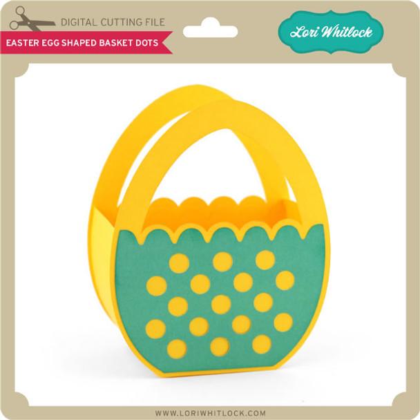 Easter Egg Shaped Basket Dots