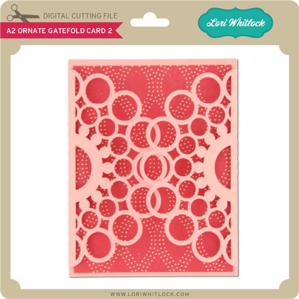 A2 Ornate Gatefold Card 2