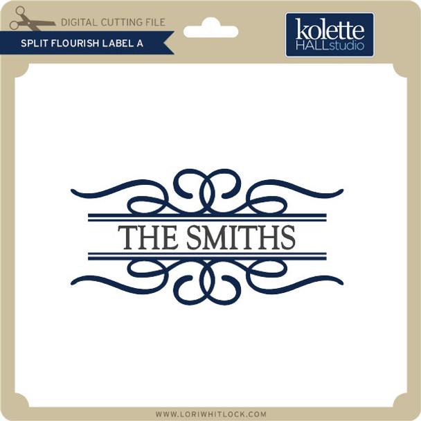 Split Flourish Label A