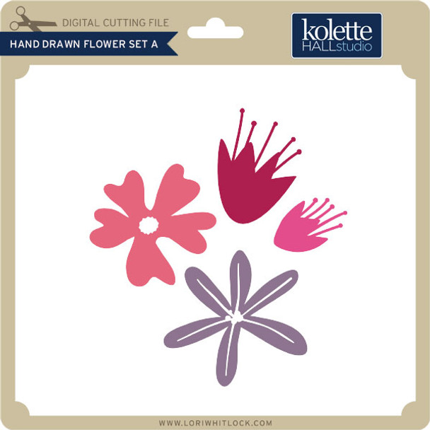 Hand Drawn Flower Set A
