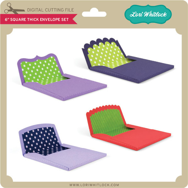 6 inch Square Thick Envelope Set