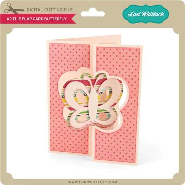 A2 Flip Flap Card Butterfly