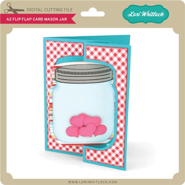A2 Flip Flap Card Mason Jar