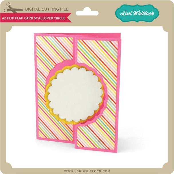 A2 Flip Flap Card Scalloped Circle