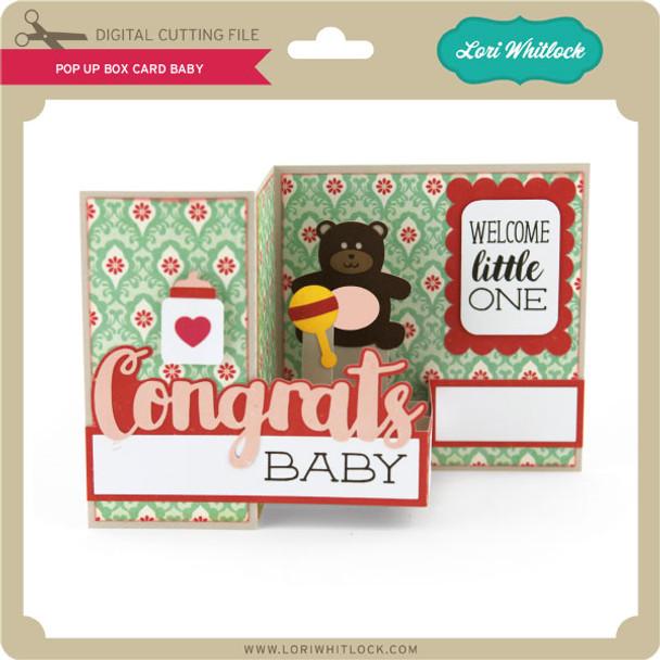 Pop Up Box Card Baby