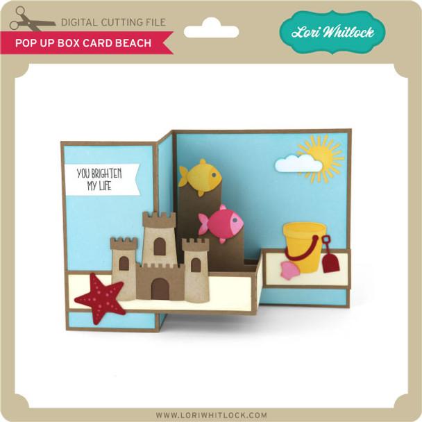 Pop Up Box Card Beach