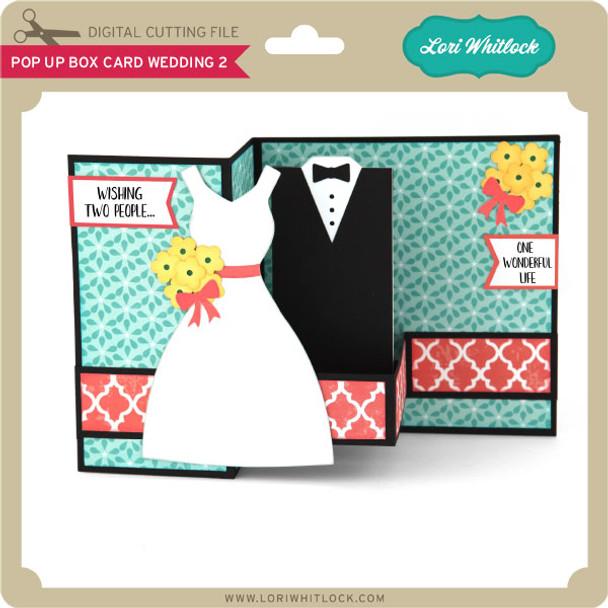 Pop Up Box Card Wedding 2