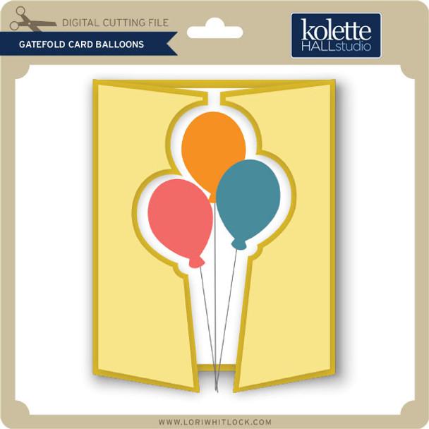 Gatefold Card Balloons