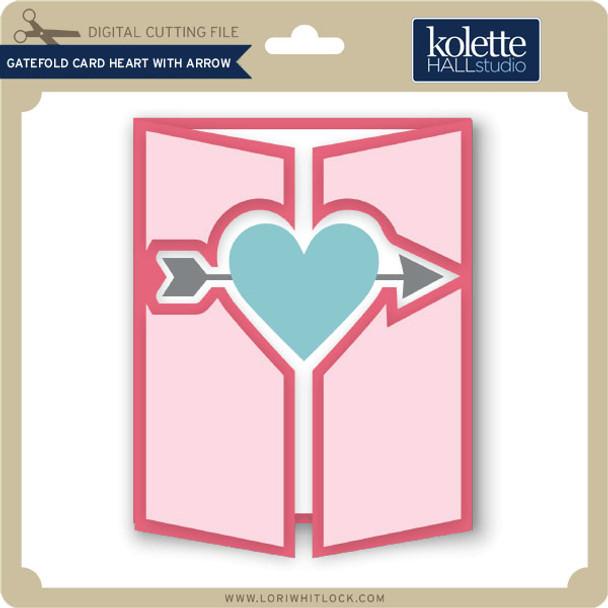 Gatefold Card Heart with Arrow