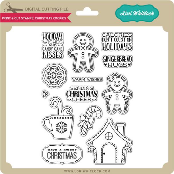 Print & Cut Stamps Christmas Cookies