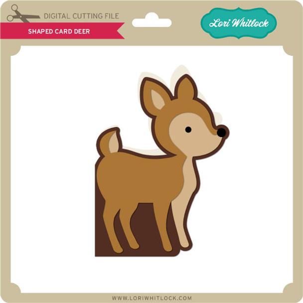 Shaped Card Deer