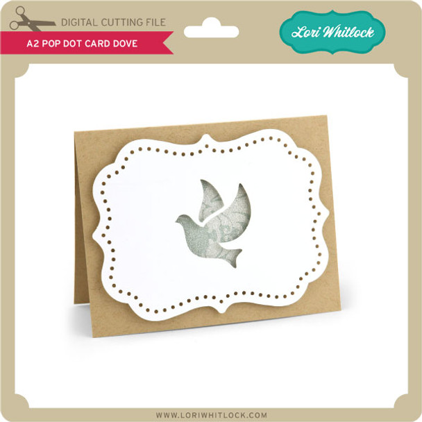 A2 Pop Dot Card Dove