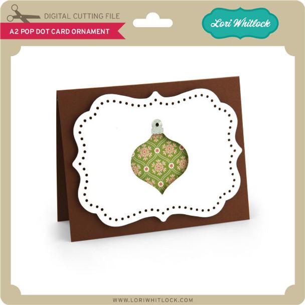 A2 Pop Dot Card Ornament