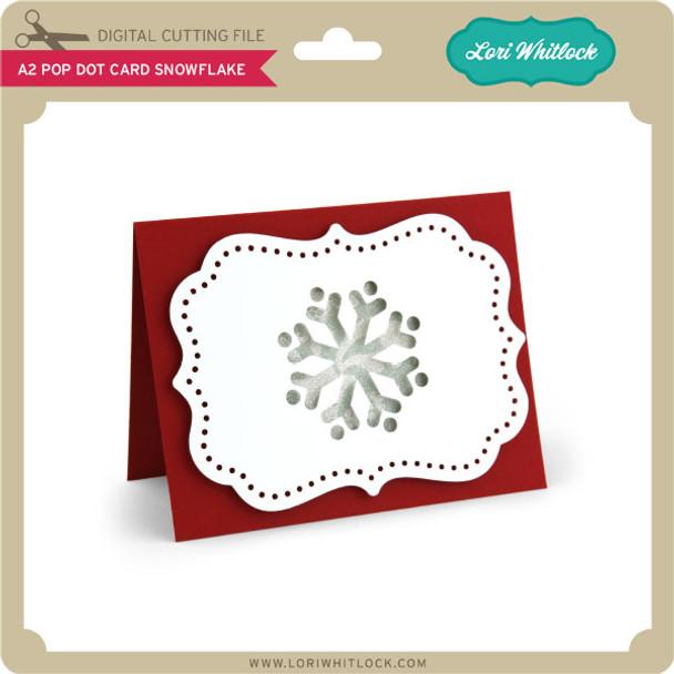A2 Pop Dot Card Snowflake