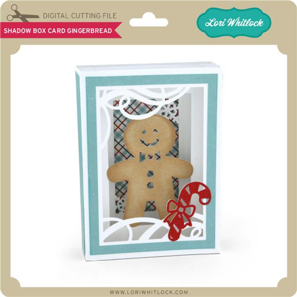 Shadow Box Card Gingerbread