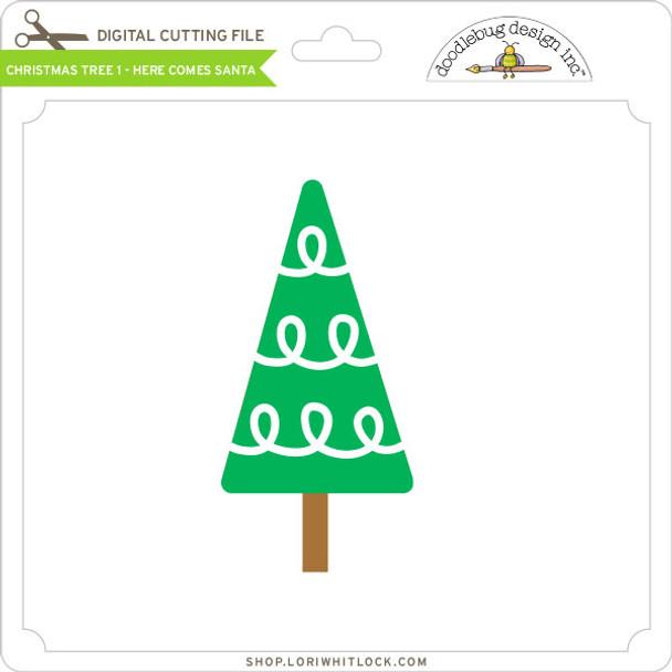 Christmas Tree 1 - Here Comes Santa