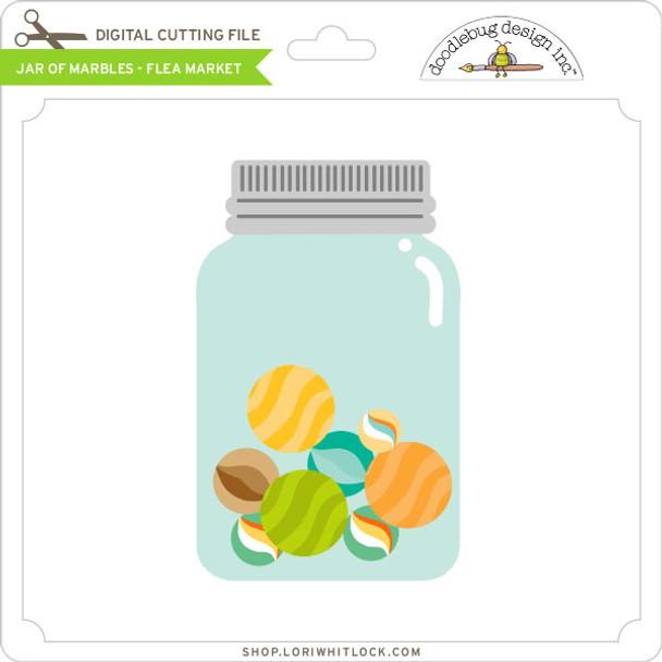 Jar of Marbles - Flea Market