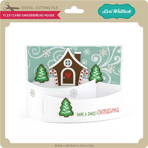 Flexi Card Gingerbread House