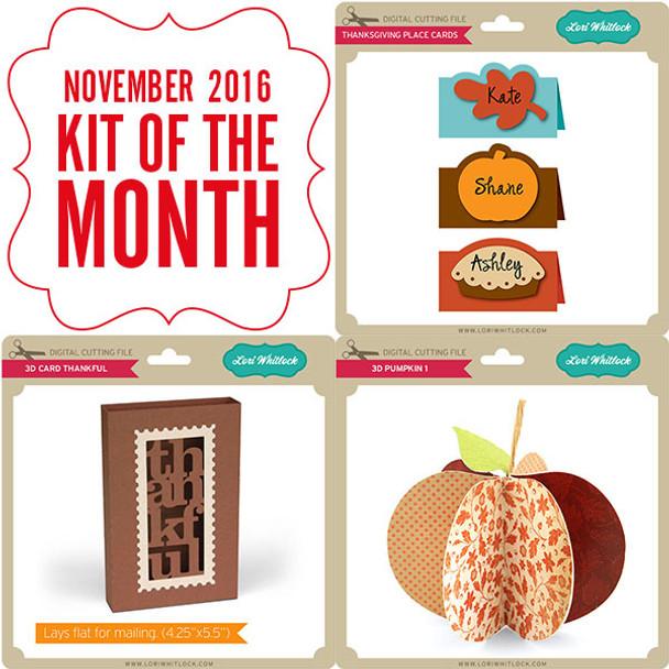 2016 November Kit of the Month