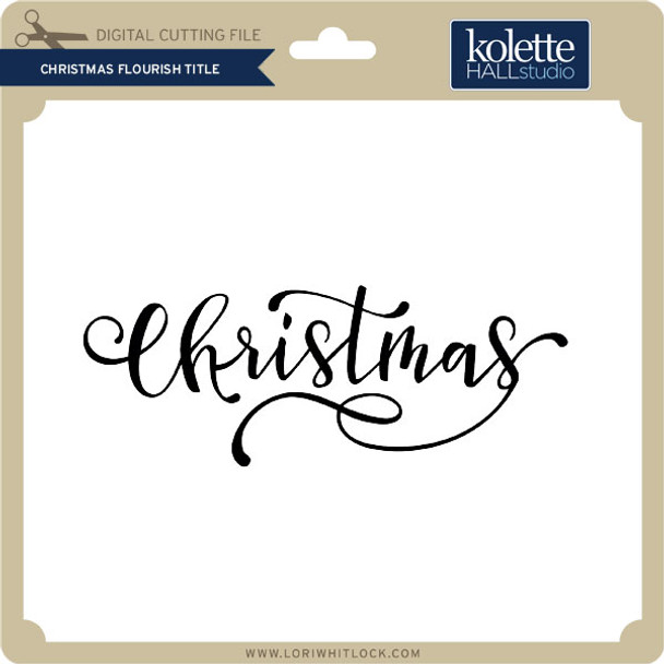 Christmas Flourish Title