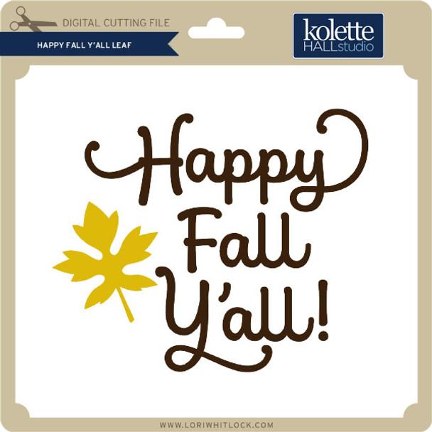 Happy Fall Y'All Leaf