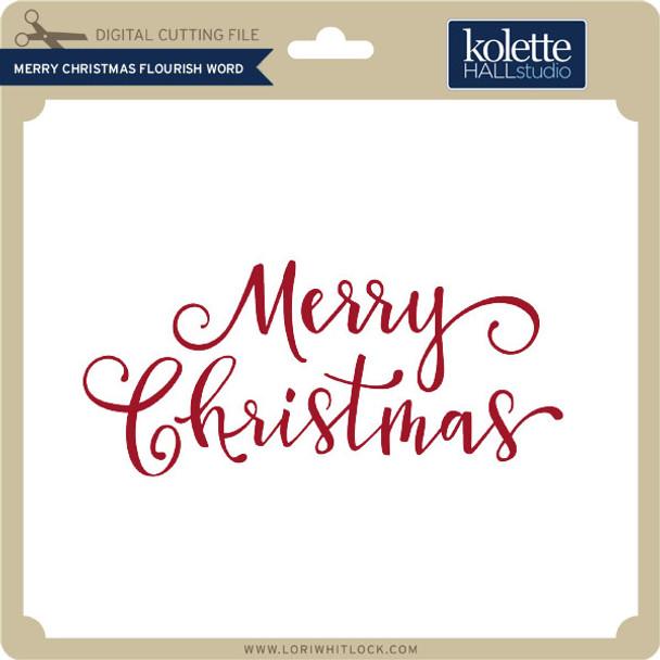 Merry Christmas Flourish Word