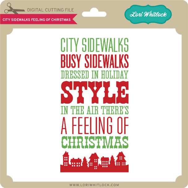 City Sidewalks Feeling of Christmas