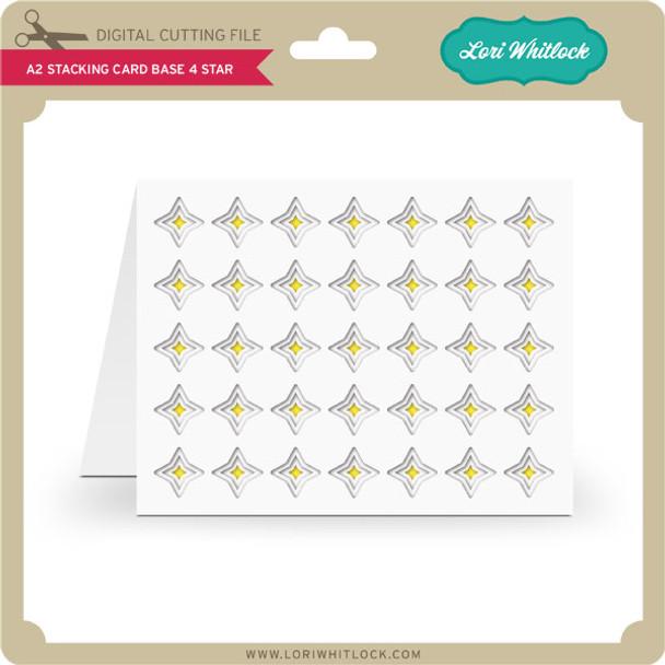 A2 Stacking Card Base 4 Star