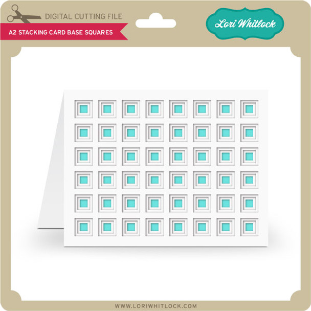 A2 Stacking Card Base Squares