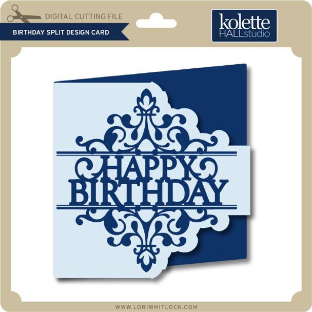 Birthday Split Design Card
