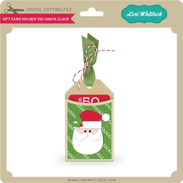 Gift Card Holder Tag Santa Claus