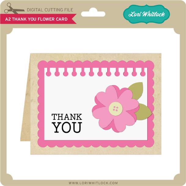 A2 Thank You Flower Card