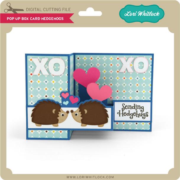 Pop Up Box Card Hedgehogs