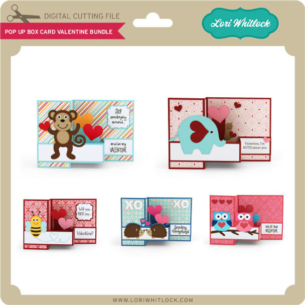 Pop Up Box Card Valentine Bundle