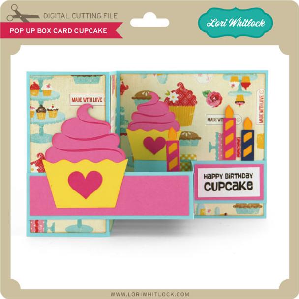 Pop Up Box Card Cupcake