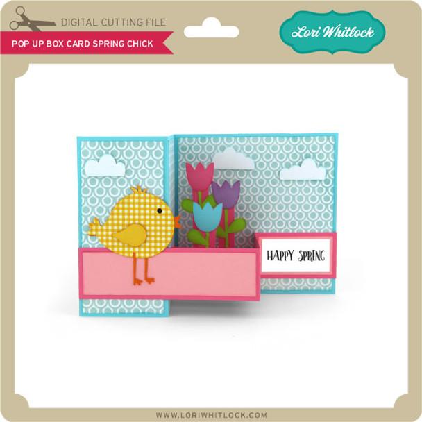 Pop Up Box Card Spring Chick