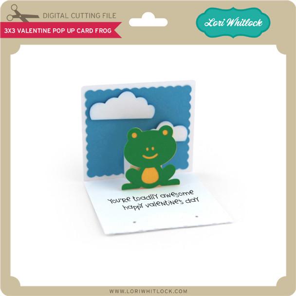 3x3 Valentine Pop Up Card Frog